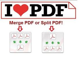 merge pdf or split pdf by ilovepdf