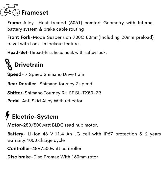 Avarax E Bike features 1
