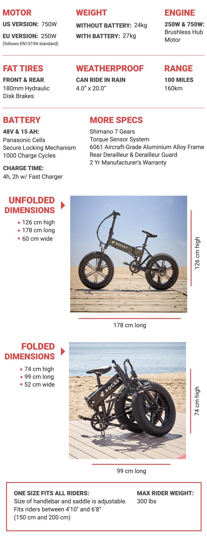 Rocket e-Bike specs