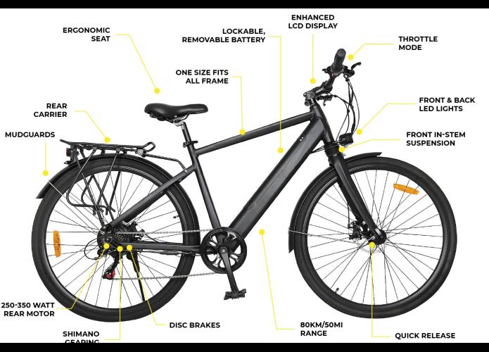 Three Phase One E-Bike Features